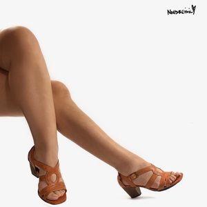 Indigo by Clarks Brown Leather Heels